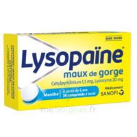 LYSOPAÏNE Comprimés à sucer maux de gorge sans sucre 2T/18