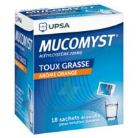 MUCOMYST 200 mg Poudre pour solution buvable en sachet B/18 à Saint-Maximim