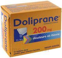 DOLIPRANE 200 mg Poudre pour solution buvable en sachet-dose B/12 à Saint-Maximim