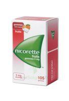 Nicorette 2 mg Gomme à mâcher médicamenteuse sans sucre fruits Plq/105 à Saint-Maximim
