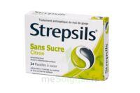 STREPSILS CITRON SANS SUCRE, pastille édulcorée à l'isomalt, au maltitol et à la saccharine sodique à Saint-Maximim
