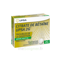 Citrate De Bétaïne Upsa 2 G Comprimés Effervescents Sans Sucre Menthe édulcoré à La Saccharine Sodique T/20 à Saint-Maximim