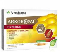 Arkoroyal Dynergie Ginseng Gelée Royale Propolis Solution Buvable 20 Ampoules/10ml à Saint-Maximim
