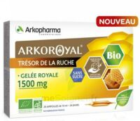 Arkoroyal Gelée Royale Bio Sans Sucre 1500mg Solution Buvable 20 Ampoules/10ml à Saint-Maximim