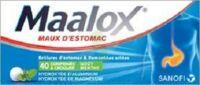 MAALOX HYDROXYDE D'ALUMINIUM/HYDROXYDE DE MAGNESIUM 400 mg/400 mg Cpr à croquer maux d'estomac Plq/40 à Saint-Maximim