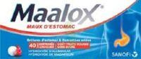MAALOX MAUX D'ESTOMAC HYDROXYDE D'ALUMINIUM/HYDROXYDE DE MAGNESIUM 400 mg/400 mg SANS SUCRE FRUITS ROUGES, comprimé à croquer édulcoré à la saccharine sodique, au sorbitol et au maltitol à Saint-Maximim
