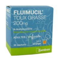 FLUIMUCIL EXPECTORANT ACETYLCYSTEINE 200 mg SANS SUCRE, granulés pour solution buvable en sachet édulcorés à l'aspartam et au sorbitol à Saint-Maximim
