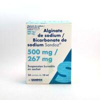 ALGINATE DE SODIUM/BICARBONATE DE SODIUM SANDOZ 500 mg/267 mg, suspension buvable en sachet à Saint-Maximim