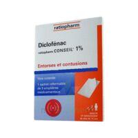 DICLOFENAC RATIOPHARM CONSEIL 1 %, emplâtre médicamenteux à Saint-Maximim