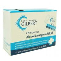 Alcool A Usage Medical Gilbert 2,5 Ml Compr Imprégnée 12sach à Saint-Maximim
