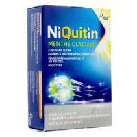 NIQUITIN 2 mg Gom à mâcher médic menthe glaciale sans sucre Plq PVC/PVDC/Alu/30 à Saint-Maximim
