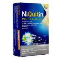 NIQUITIN 4 mg Gom à mâcher médic menthe glaciale sans sucre Plq PVC/PVDC/Alu/30 à Saint-Maximim