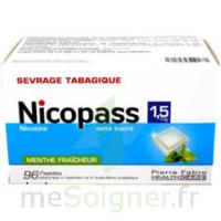 Nicopass 1,5 mg Pastille sans sucre menthe fraîcheur Plq/96 à Saint-Maximim