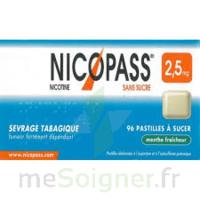 Nicopass 2,5 mg Pastille menthe fraîcheur sans sucre Plq/36 à Saint-Maximim