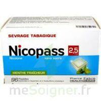 Nicopass 2,5 mg Pastille menthe fraîcheur sans sucre Plq/96 à Saint-Maximim