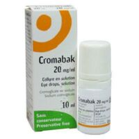 Cromabak 20 Mg/ml, Collyre En Solution à Saint-Maximim
