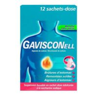 GAVISCONELL Suspension buvable sachet-dose menthe sans sucre 12Sach/10ml à Saint-Maximim