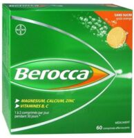Berocca Comprimés effervescents sans sucre T/60 à Saint-Maximim