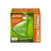 Nicorette 2 mg Gomme à mâcher médicamenteuse sans sucre fruits Plq/210 à Saint-Maximim