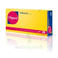 Oligosol Lithium Solution buvable en ampoule ou en récipient unidose 28Amp/2ml à Saint-Maximim
