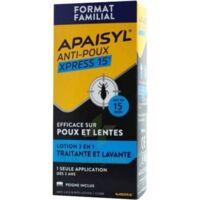 Apaisyl Anti-poux Xpress 15' Lotion antipoux et lente 200ml+peigne à Saint-Maximim