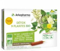 Arkofluide Bio Ultraextract Solution buvable détox 9 Plantes 20 Ampoules/10ml à Saint-Maximim