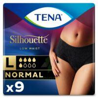 Tena Lady Silhouette Slip Absorbant Noir Normal Large Paquet/9 à Saint-Maximim