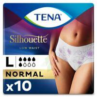 Tena Lady Silhouette Slip Absorbant Blanc Normal Large Paquet/10 à Saint-Maximim