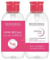 CREALINE H2O Solution micellaire nettoyante apaisante sans parfum 2Fl pompe inversée/500ml à Saint-Maximim